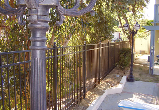 Flat Top Aluminum Fencing Styles Orange County Fencing