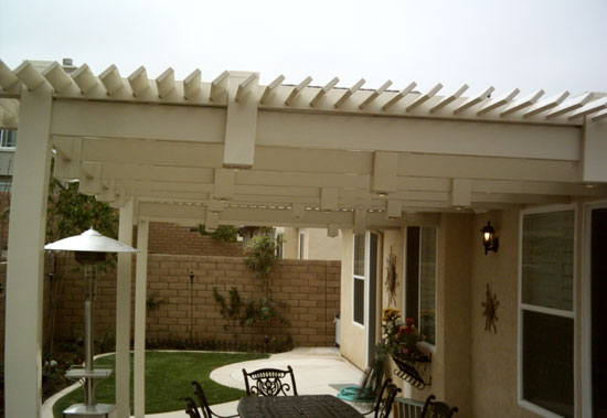 Louvered Top Vinyl Patio Covers Styles | Orange County Fencing ...