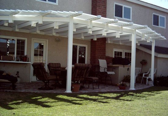 Elegant Solid Vinyl Patio Cover