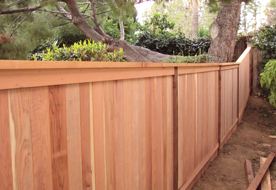Cap And Trim Wood Fencing Styles Orange County Fencing